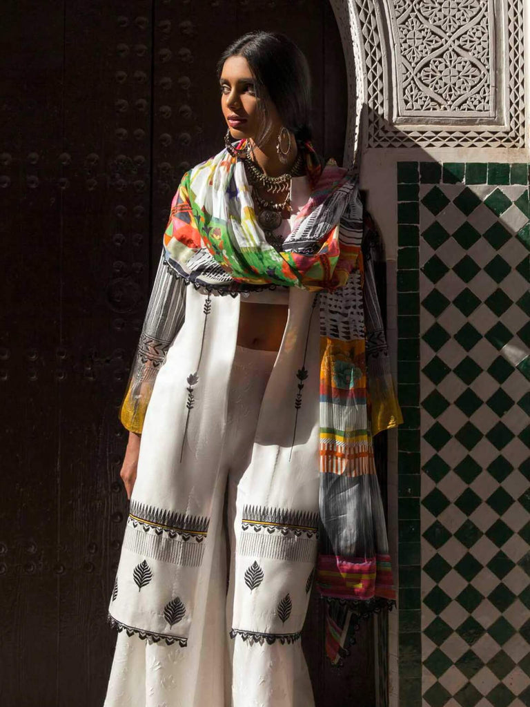 103b24d6 ZARA SHAHJAHAN Luxury Lawn 2019 Embroidered 3PC Suit MARRAKESH A ...