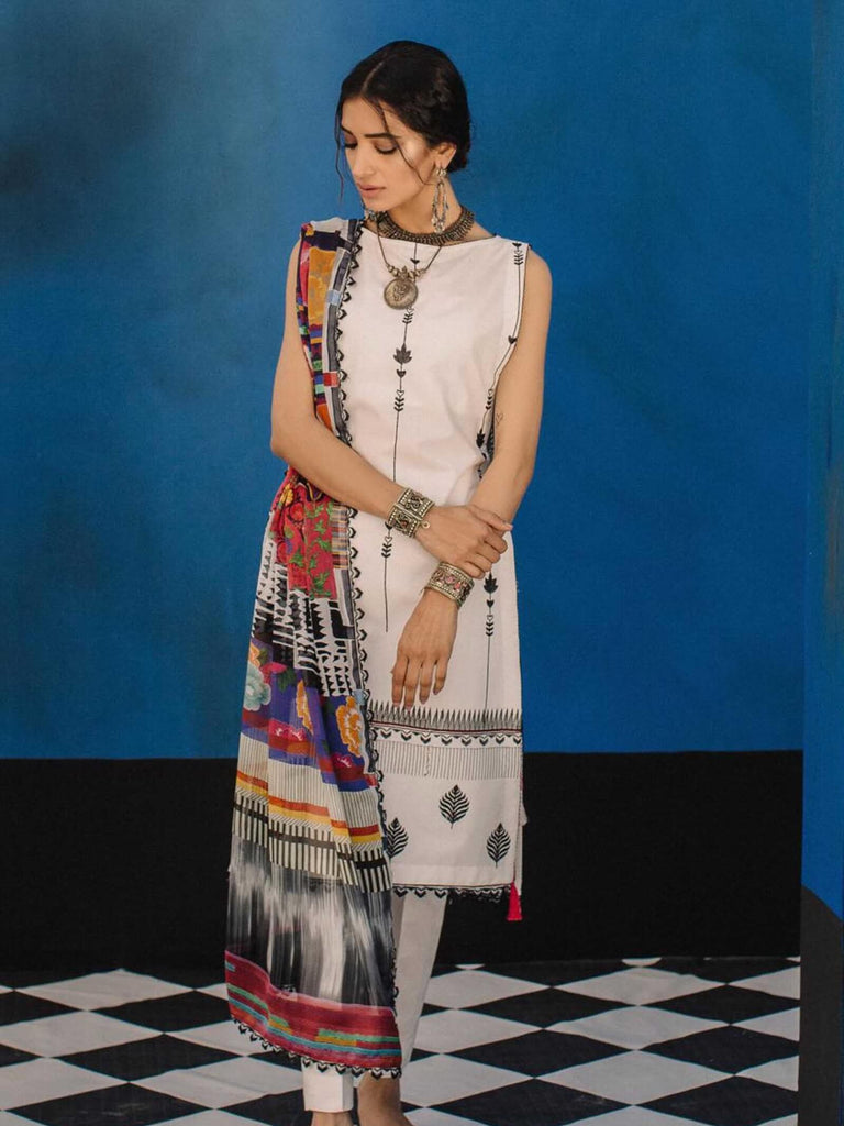 3292fc4f ZARA SHAHJAHAN Luxury Lawn 2019 Embroidered 3PC Suit MARRAKESH B ...