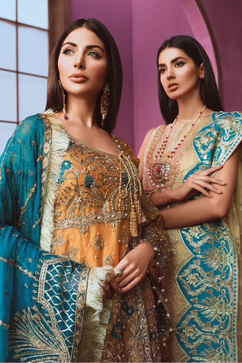 Maryum N Maria Freesia Hand Made Embroidered Suit FF-02 Offling Peace - FaisalFabrics.pk