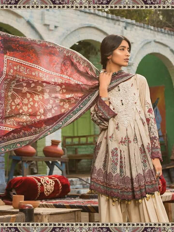 b853f55aea MARIA.B M.Prints Embroidered Lawn 3Pc Suit Summer 2019 MPT 1B –  FaisalFabrics.pk