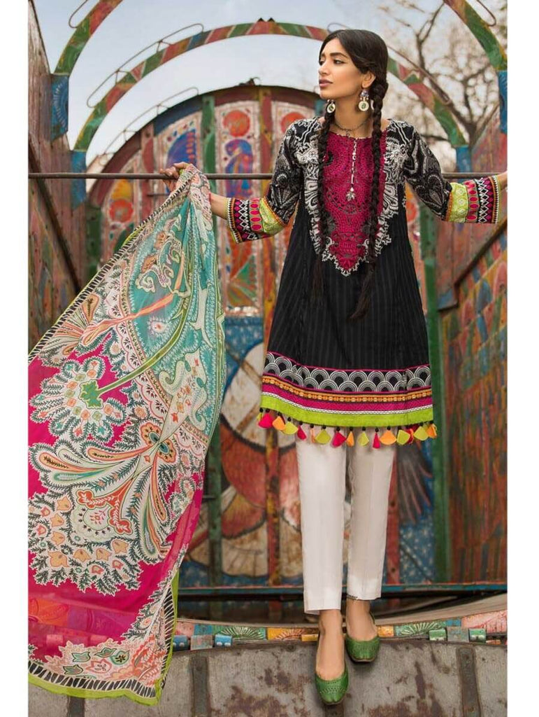 f73783dfe9 MARIA.B M.Prints Embroidered Lawn 2Pc Suit Summer 2019 MPT 3A ...