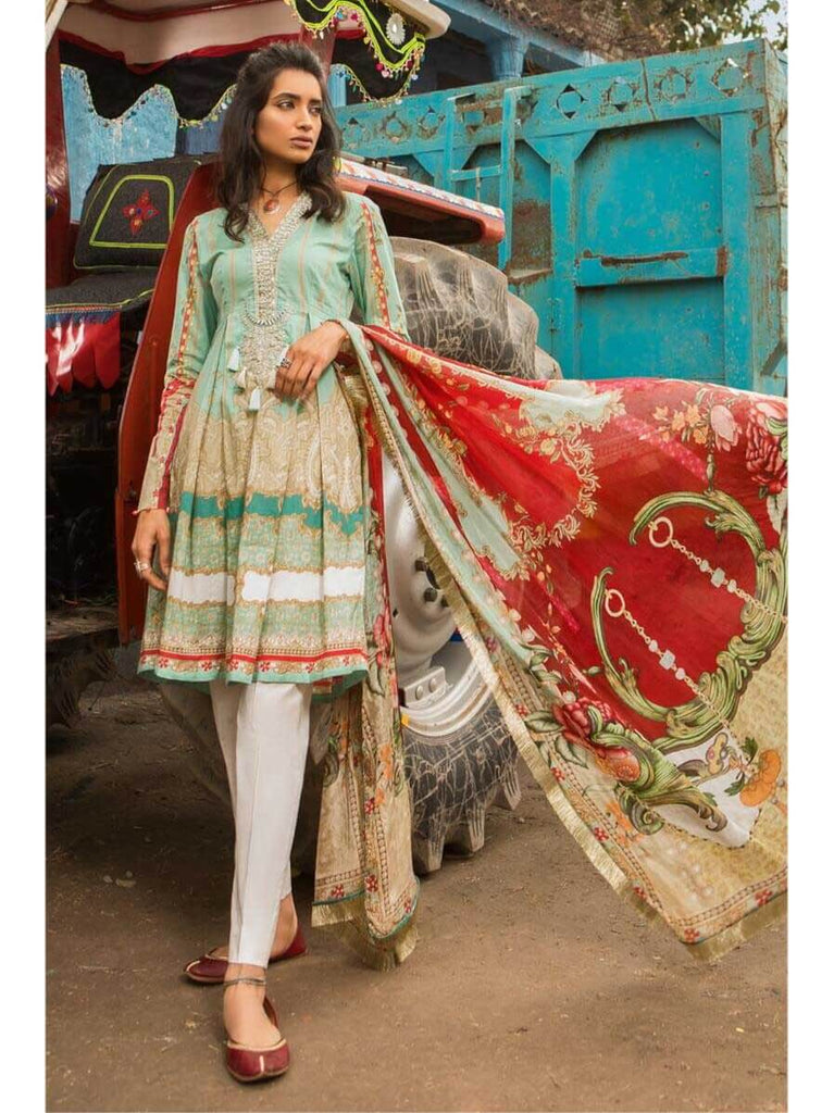 ffba954301 MARIA.B M.Prints Embroidered Lawn 2Pc Suit Summer 2019 MPT 11A ...