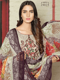Aroosa Embroidered Swiss Lawn 2019 Unstitched 3 Piece Suit MSV-19025 - FaisalFabrics.pk