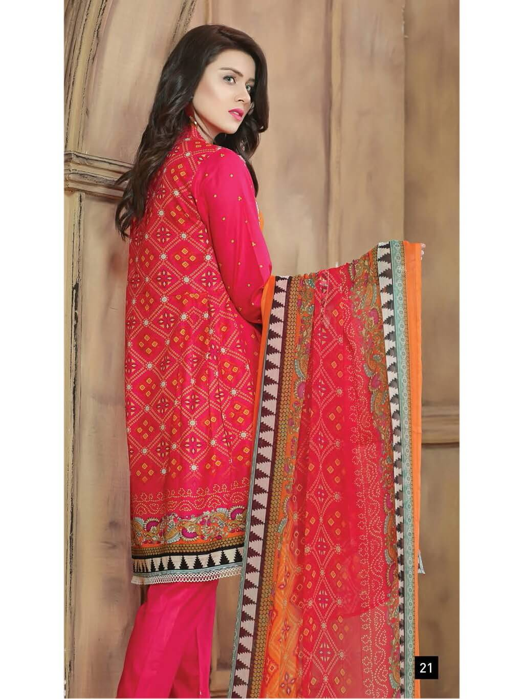 Aroosa Embroidered Lawn Summer 2019 Unstitched 3 Piece Suit MSV 19230 - FaisalFabrics.pk