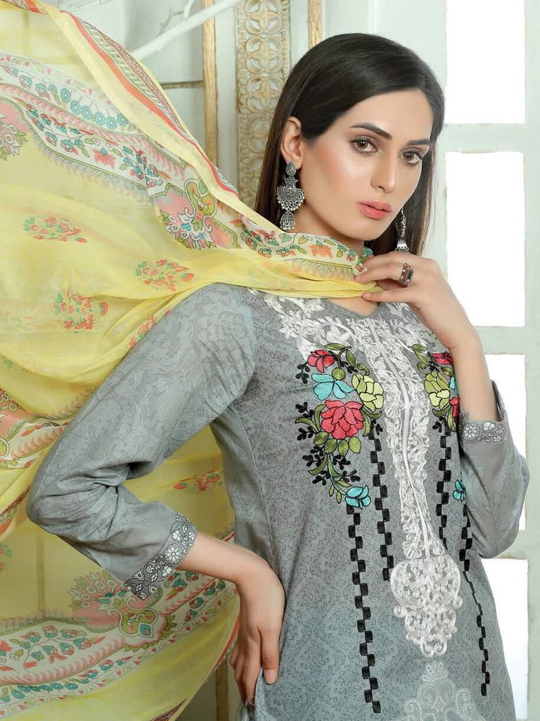 NOOR Embroidered Lawn Summer 2019 Unstitched 3PC Suit MSV 19251 - FaisalFabrics.pk
