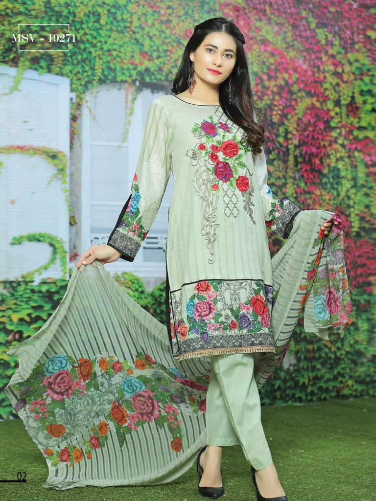cd1f2d257d NOOR Embroidered Lawn Summer 2019 Unstitched 3PC Suit MSV 19271 ...