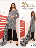 Riaz Arts Mahee's Digital Embroidered Lawn Unstitched 3pc Suit RA-04 - FaisalFabrics.pk