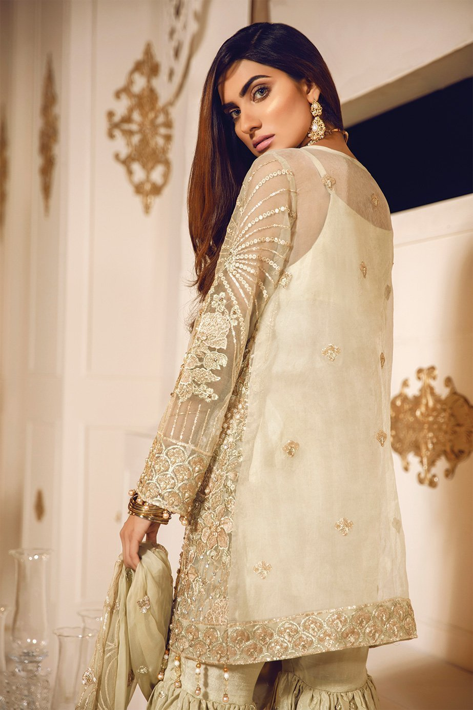 Maryum N Maria Bridal Chiffon 2020 Embroidered 3Pc Suit Whisper MA-06 - FaisalFabrics.pk