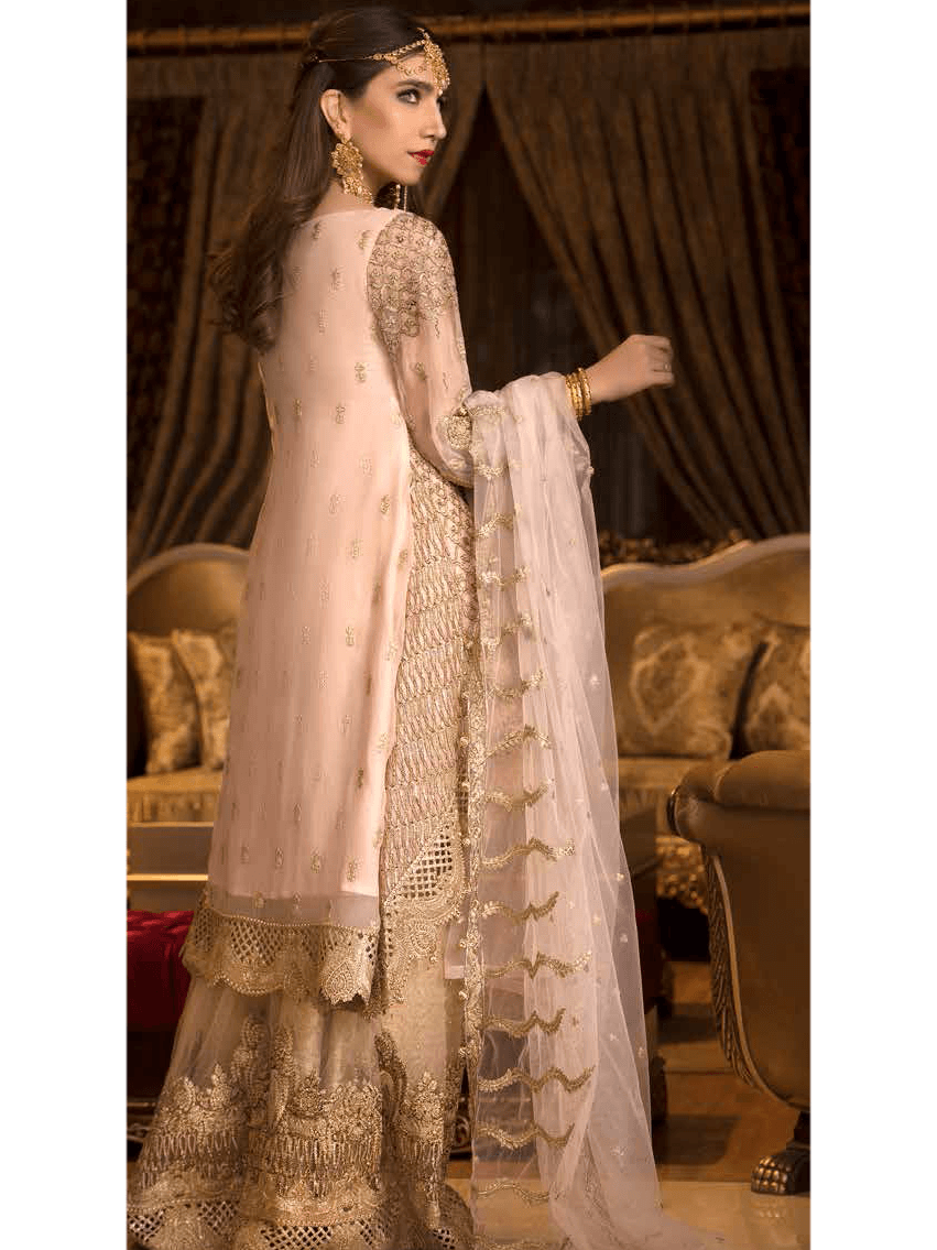Maryum N Maria Freesia luxury Embroidered Chiffon 3Pc Suit FMM 610 - FaisalFabrics.pk