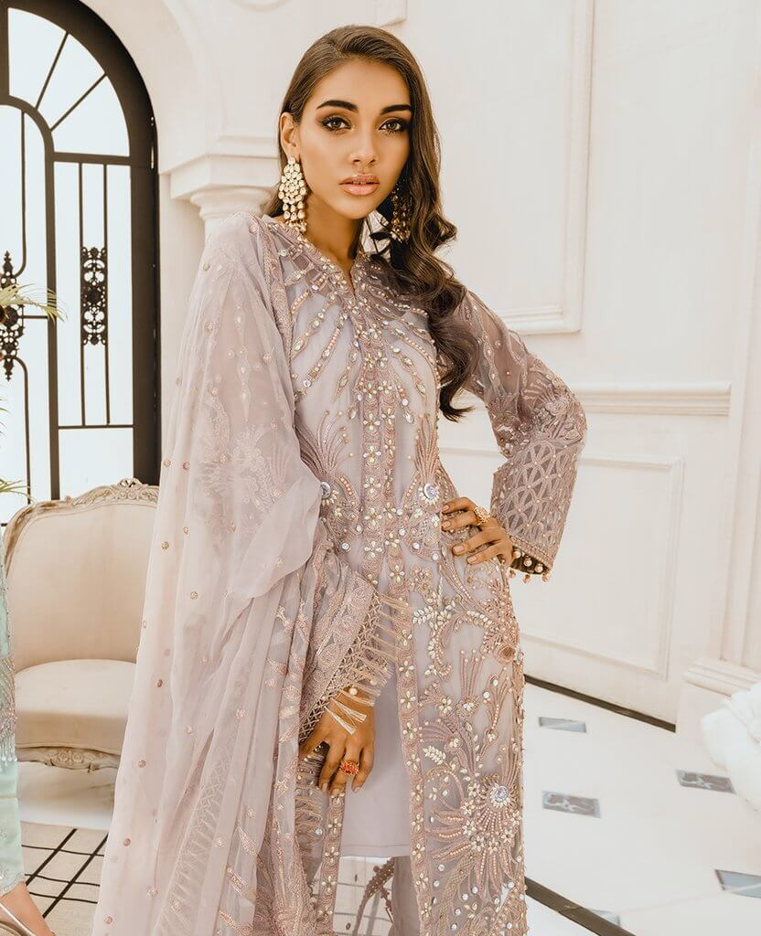 Maryum N Maria Freesia Premium Embroidered Chiffon 3Pc Suit FG-04 Angle Hour