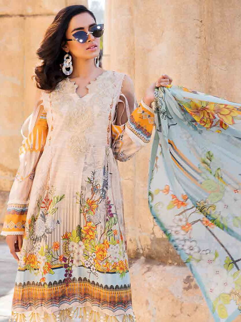 Motifz Umang Lawn Collection 2020 Embroidered 3pc Suit MU-2528 - FaisalFabrics.pk