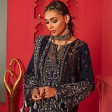 Nureh Exclusive Embroidered Leather Jacquard Unstitched 3Pc Suit NJ-10