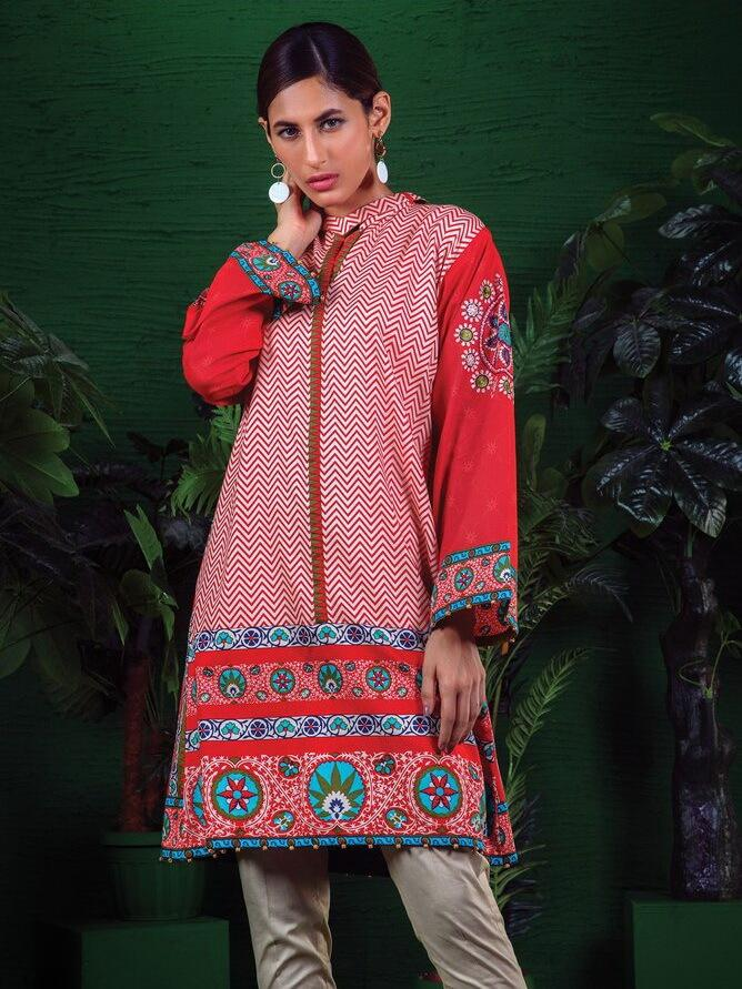 Orient Winter Collection'19 Vol-2 Cottel Embroidered Shirt OTL-19-152A
