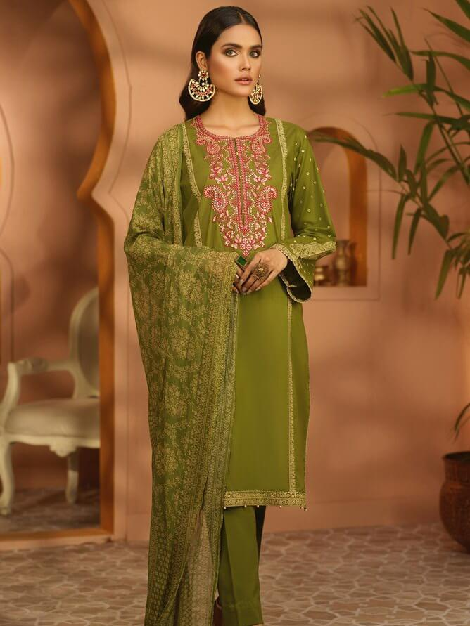 Mirage by Orient Textiles Embroidered Lawn 3pc Suit OTL-20-139/B - FaisalFabrics.pk