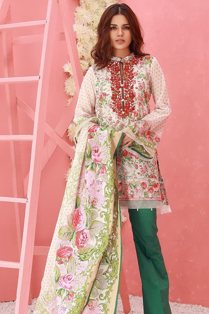 ORIENT Textile Festive Collection'18 Embroidered lawn 3Pc OTL18-126-A - FaisalFabrics.pk