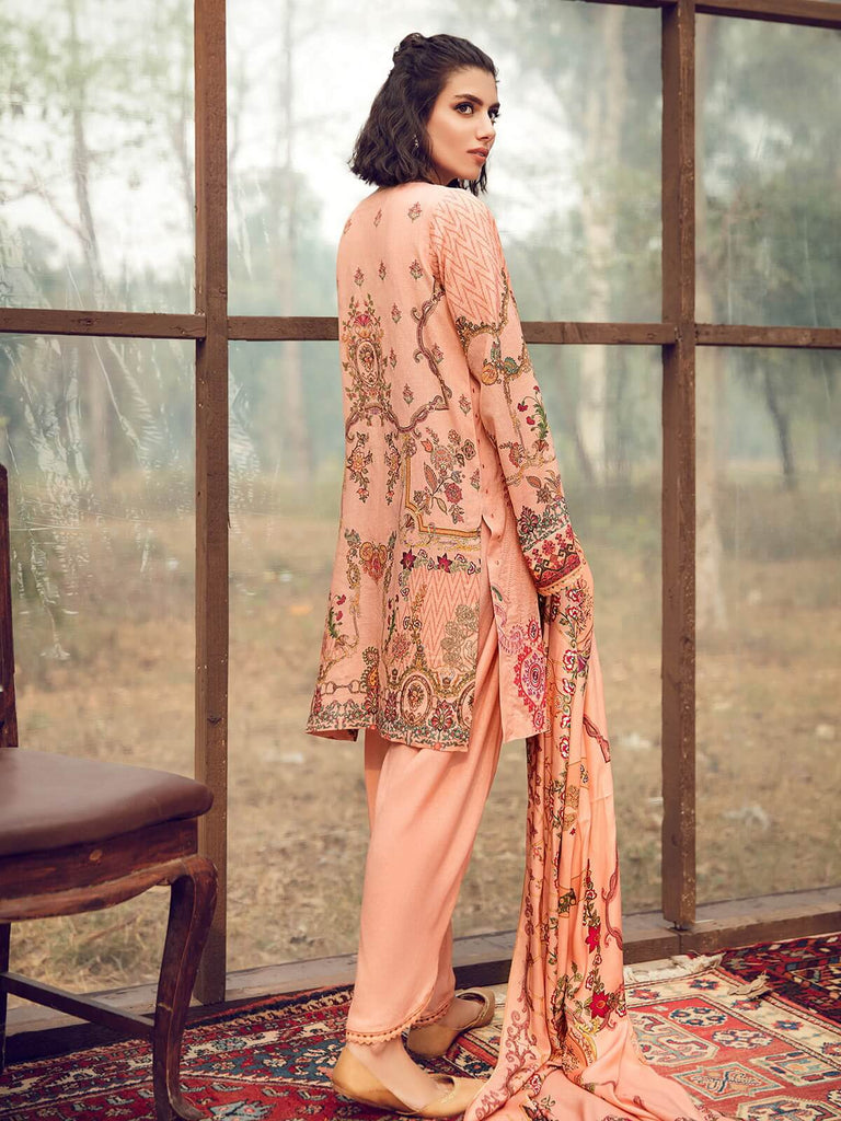 RajBari Winter Shawl Collection Vol-2 3pc Embroidered Suit 09A - FaisalFabrics.pk