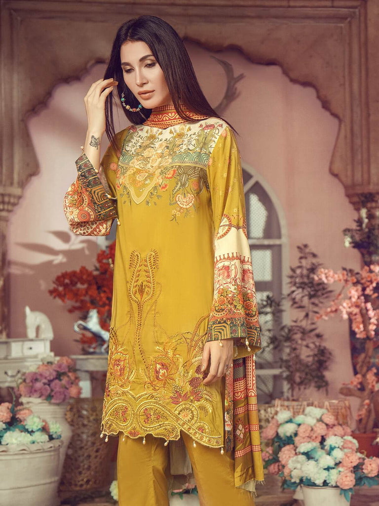RajBari - RajBari Linen Vol-1 '19 5A Unstitched 3-Piece Embroidered Suit - faisalfabrics-pk
