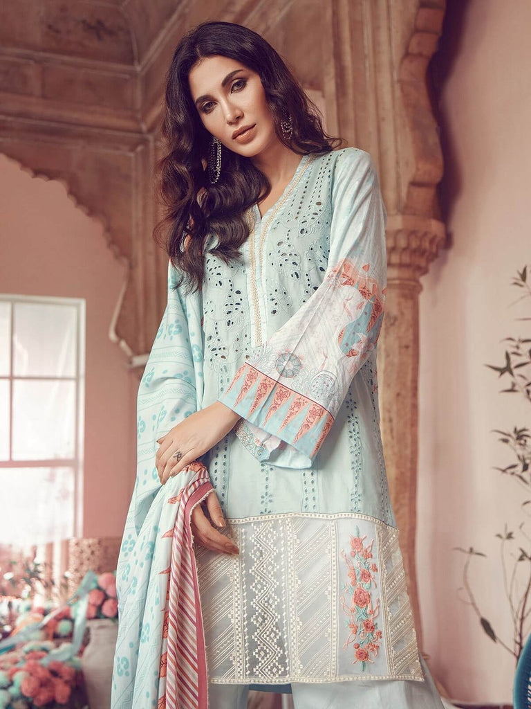 RajBari - RajBari Linen Vol-1 '19 7B Unstitched 3-Piece Embroidered Suit - faisalfabrics-pk