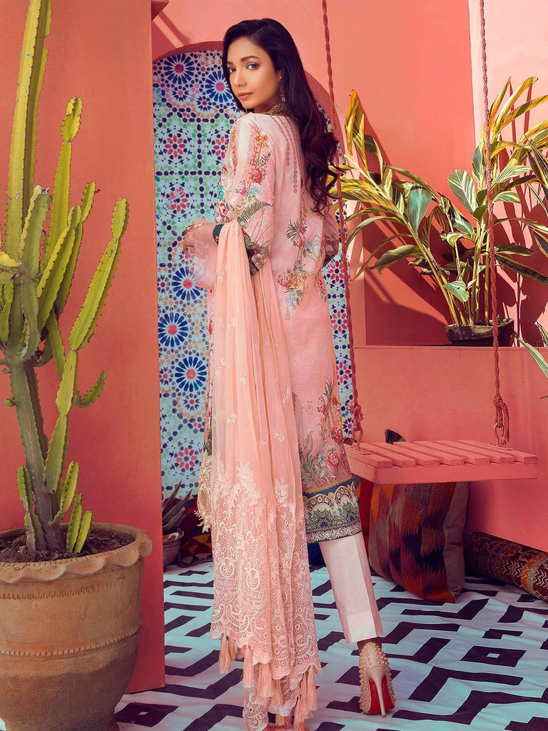 RajBari Luxury Embroidered Lawn 2019 Unstitched 3 Piece Suit 2A