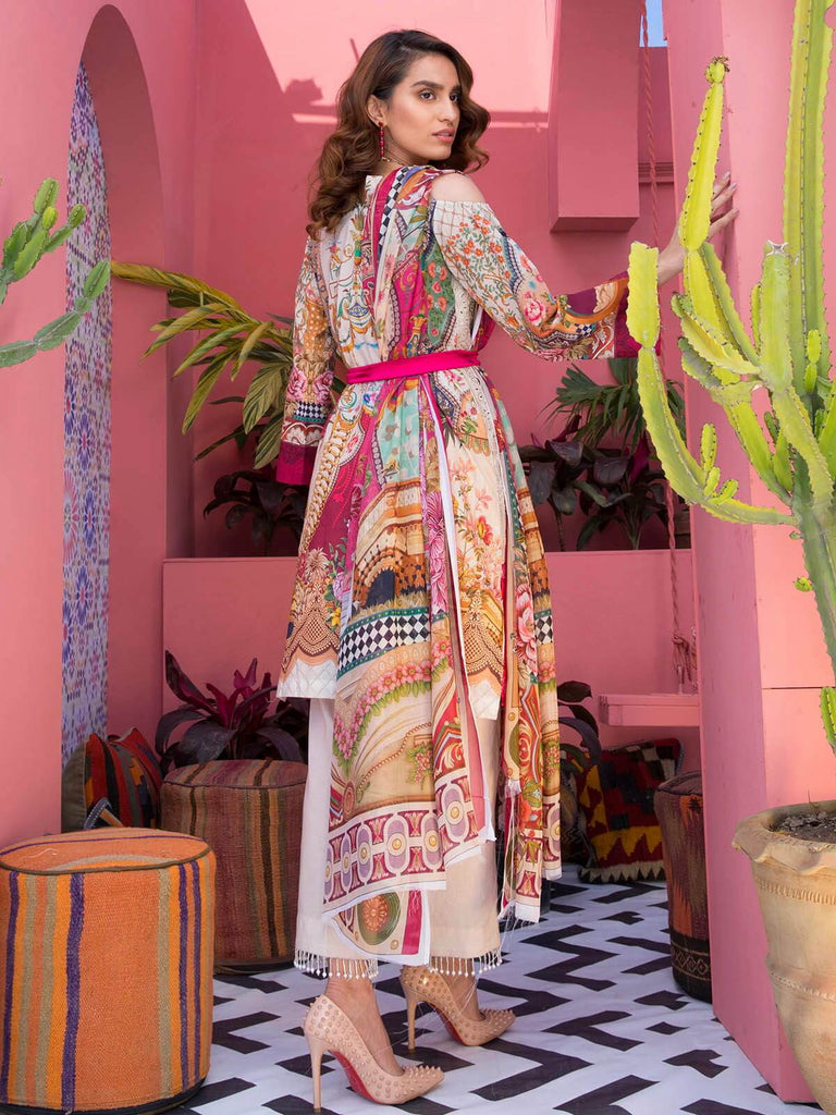 RajBari Luxury Embroidered Lawn 2019 Unstitched 3 Piece Suit 3B