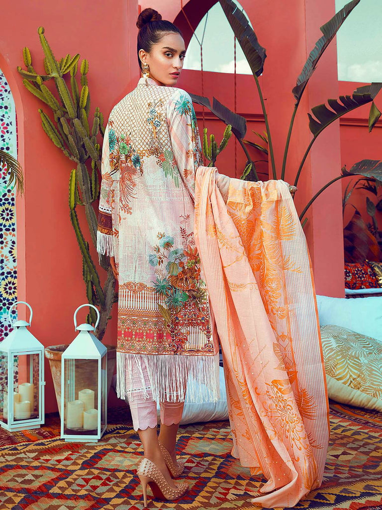 RajBari Luxury Embroidered Lawn 2019 Unstitched 3 Piece Suit 5A