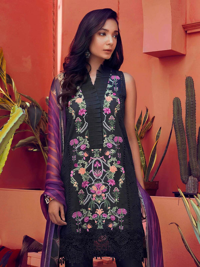 RajBari Luxury Embroidered Lawn 2019 Unstitched 3 Piece Suit 6A
