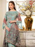 Ramsha Rangoon Luxury Chiffon Vol-4 Embroidered 3Pc Suit D-409 - FaisalFabrics.pk