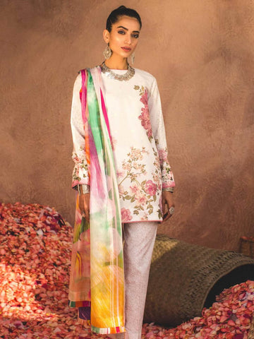 ZARA SHAHJAHAN Luxury Lawn 2019 Embroidered 3PC Suit SHAAM B