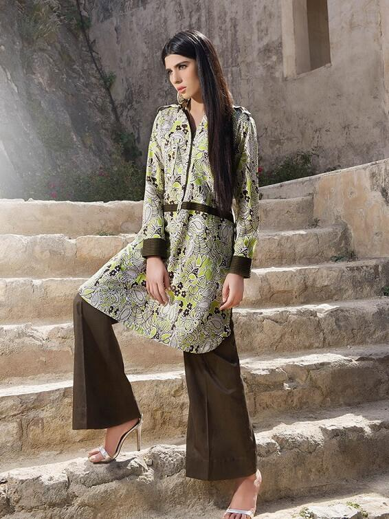 GulAhmed Festive Printed Lawn Shirt Summer Collection SL 306