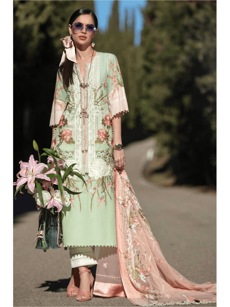 68e96d58f9 Sana Safinaz Luxury Lawn Summer 2019 Unstitched 3PC Suit SS-19-6B ...