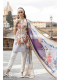 Sana Safinaz Luxury Lawn Summer 2019 Unstitched 3PC Suit SS-19-8B - FaisalFabrics.pk
