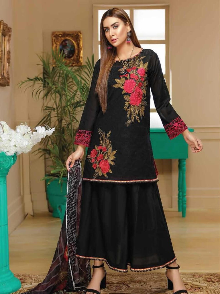 96cb9ac3a7 SANAM SAEED Premium Swiss Lawn Chiken Karri Embroidered 3PC Suit SS ...