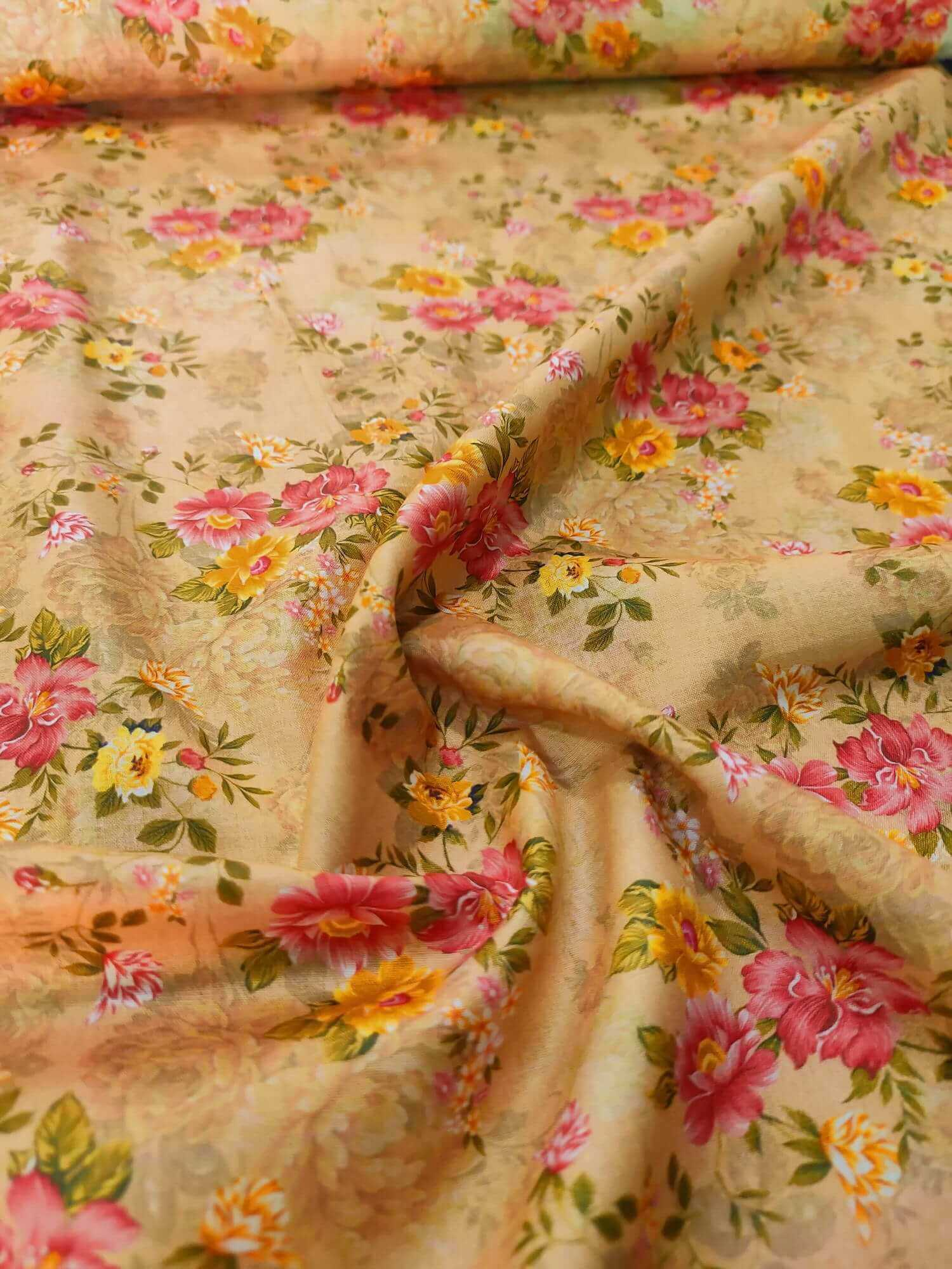 Single Lawn Printed Fabric for Summer unstitched SPL-18 - FaisalFabrics.pk