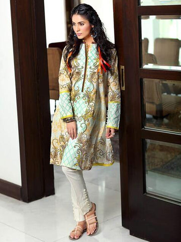 GulAhmed Festive Printed Lawn Shirt Summer Collection SL 300