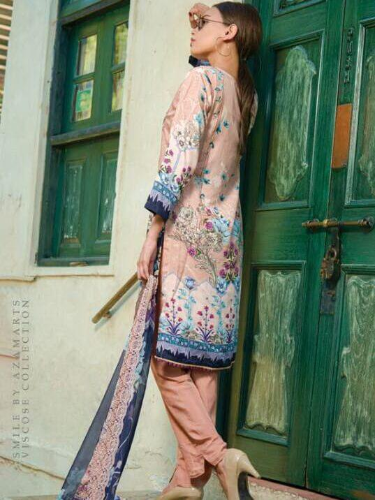 Smile Embroidered Viscose Linen Unstitched 3 Piece Suit HA-16A Winter Collection - FaisalFabrics.pk