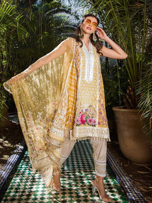 Sobia Nazir Luxury Embroidred Lawn Collection 2020 3pc Suit D-13A - FaisalFabrics.pk