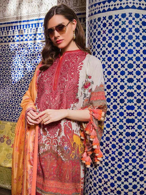 Sobia Nazir Luxury Embroidred Lawn Collection 2020 3pc Suit D-14B - FaisalFabrics.pk