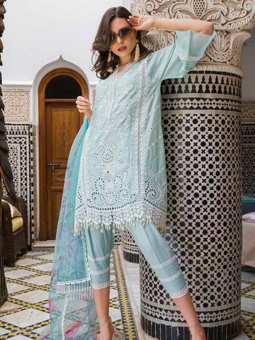 Sobia Nazir Luxury Embroidred Lawn Collection 2020 3pc Suit D-1A