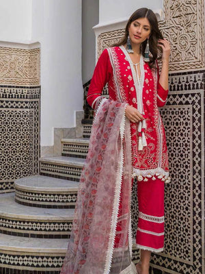 Sobia Nazir Luxury Embroidred Lawn Collection 2020 3pc Suit D-1B - FaisalFabrics.pk
