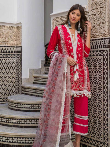 Sobia Nazir Luxury Embroidred Lawn Collection 2020 3pc Suit D-1B