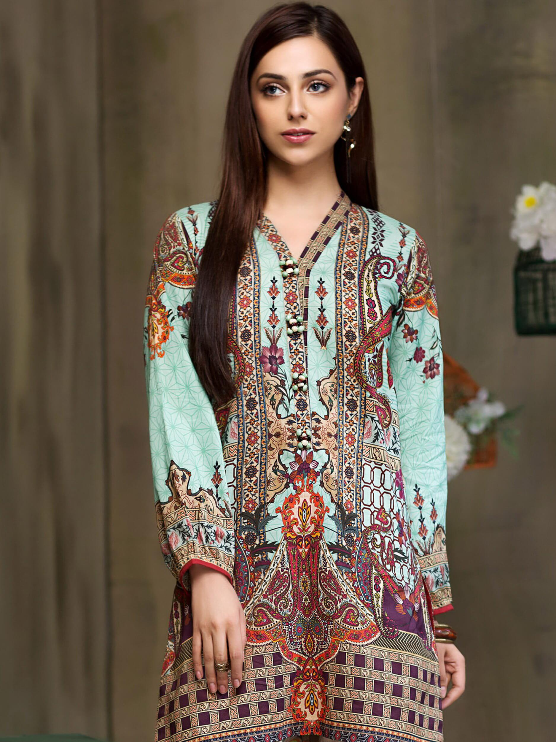 LimeLight Printed Lawn Unstitched Shirt Summer 2019 U0365 Green - FaisalFabrics.pk