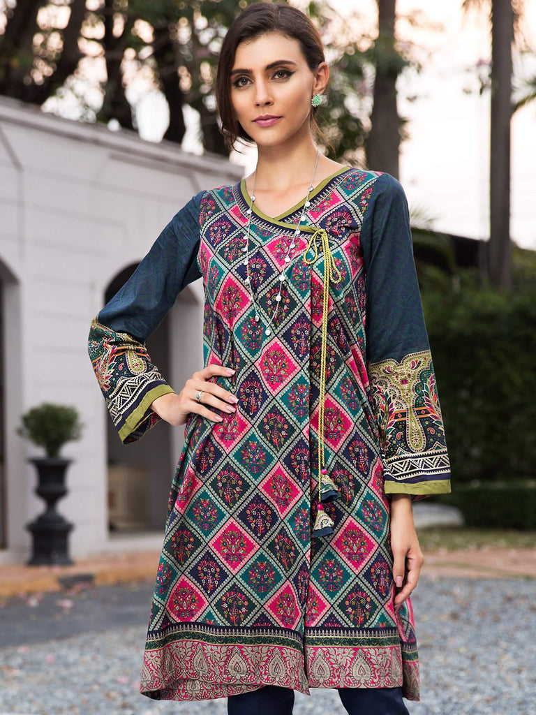 LimeLight Printed Eid Lawn Unstitched 2PC Suit Summer 2019 U0694 Green