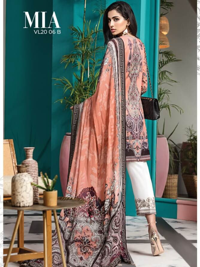 ANAYA By Kiran Chaudhry VIVA Lawn 2020 Embroidered 3PC Suit VL20-06B - FaisalFabrics.pk