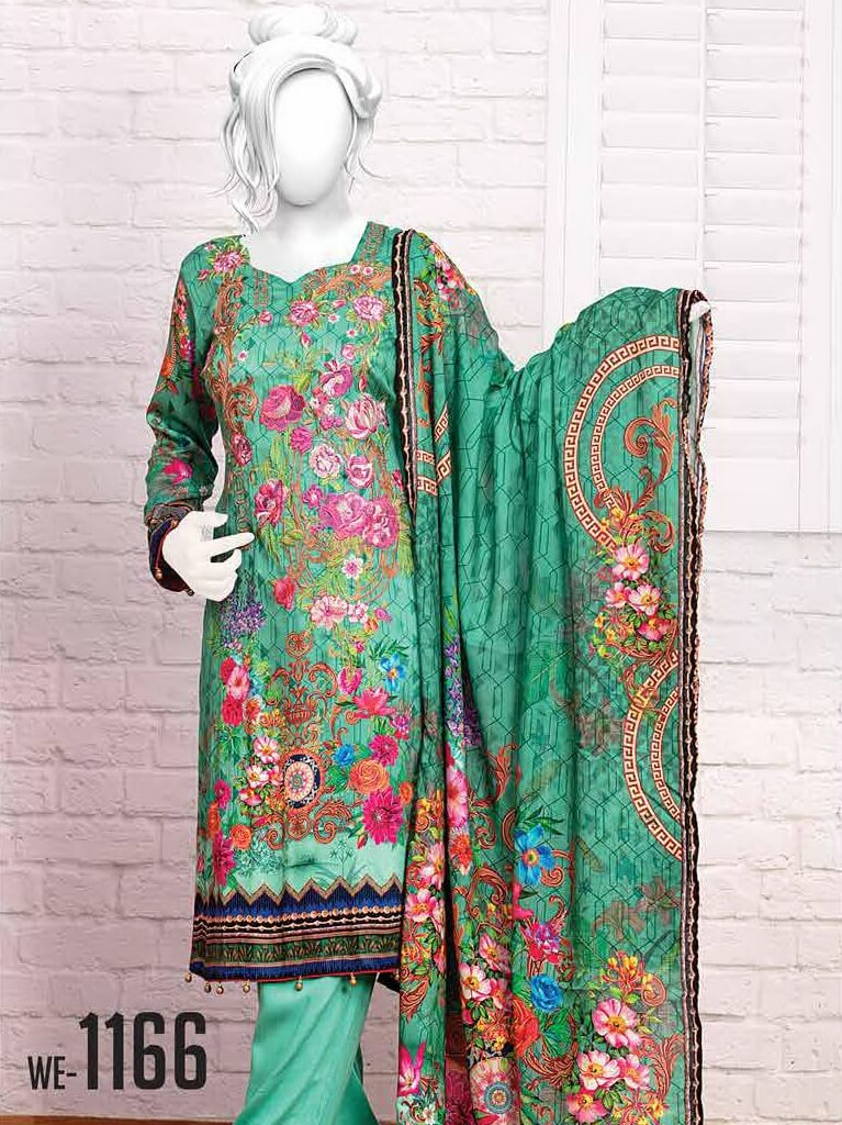 Al-Boutique - Armani Cottel Linen Embroidered Unstitched 3Pc Suit  WE-1166 - faisalfabrics-pk