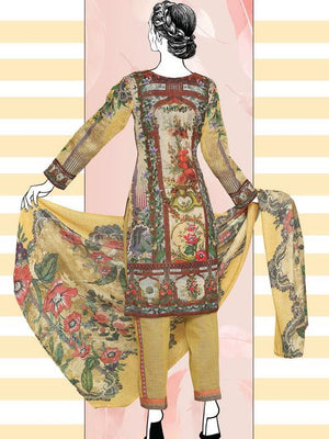 Falak Khaddar Embroidered Unstitched 3 Piece Suit WE-1216