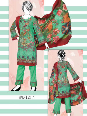 Falak Khaddar Embroidered Unstitched 3 Piece Suit WE-1217
