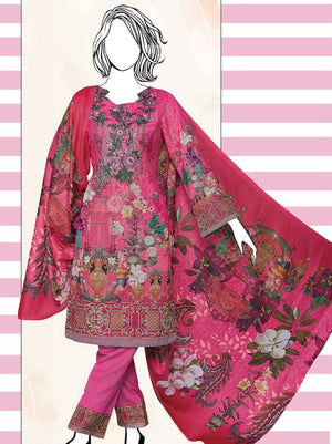 Falak Khaddar Embroidered Unstitched 3 Piece Suit WE-1218
