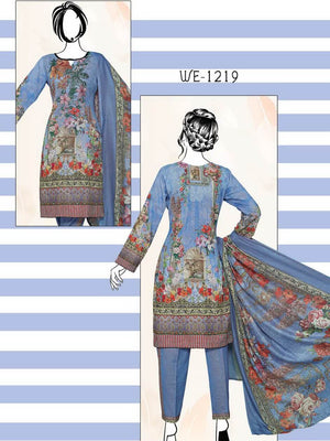 Falak Khaddar Embroidered Unstitched 3 Piece Suit WE-1219