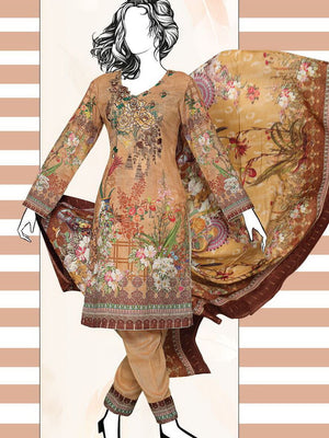 Falak Khaddar Embroidered Unstitched 3 Piece Suit WE-1222