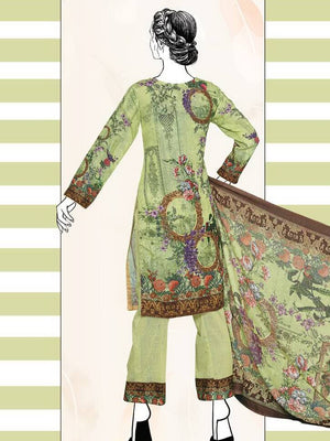 Falak Khaddar Embroidered Unstitched 3 Piece Suit WE-1227